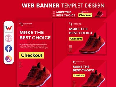 Shoes Product web Banner template design logodesign poster art design istique10 istiaque ahmed vector branding minimal illustration logo graphic design