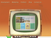 A snippet of our retro themed website