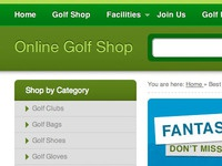 Design for golf equipment website