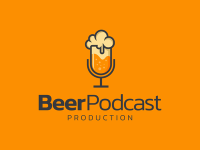 beer podcast artwork graphic combination logo podcast beer