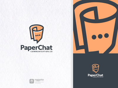 PaperChat illustration animation artwork communication logo chat paper