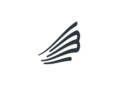 """B+Wind"" logo idea inspiration logo brand logo design logo mark minimalism graphic design idea vector illustration logos icon mark brand design logotype logo logo wind wind b"