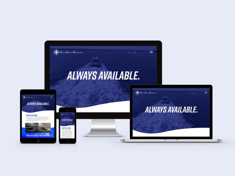 Site Redesign | Rapid Ocean Response Corp website branding web typography design