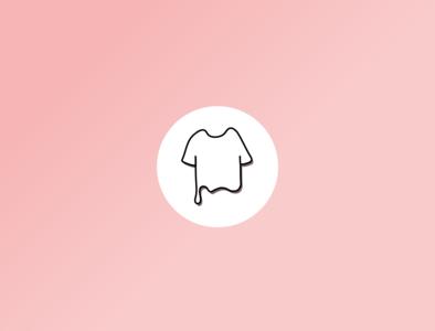 Clothing App Icon ux web type lettering website app typography icon ui vector illustration minimal logo illustrator flat branding design art