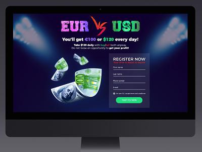 Landing page for online trading platform landing page webdesign