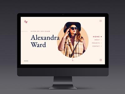 Alexandra Ward website personal site portfolio interior design webdesign