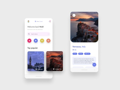 Travel app design website app webdesign ux flat ui web design
