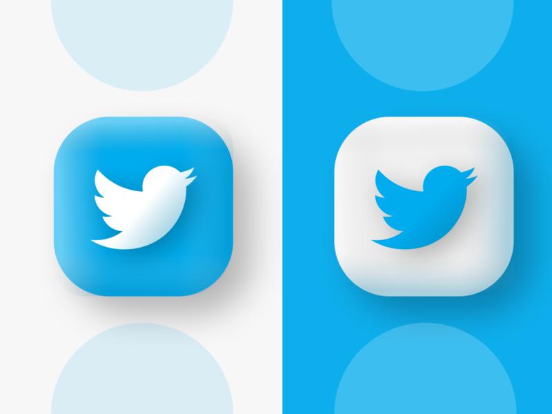 Soft Twitter twitter icon app icon logo vector design web