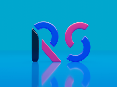 RS logo 3d 3dicon icon branding logo blender3d 3d design