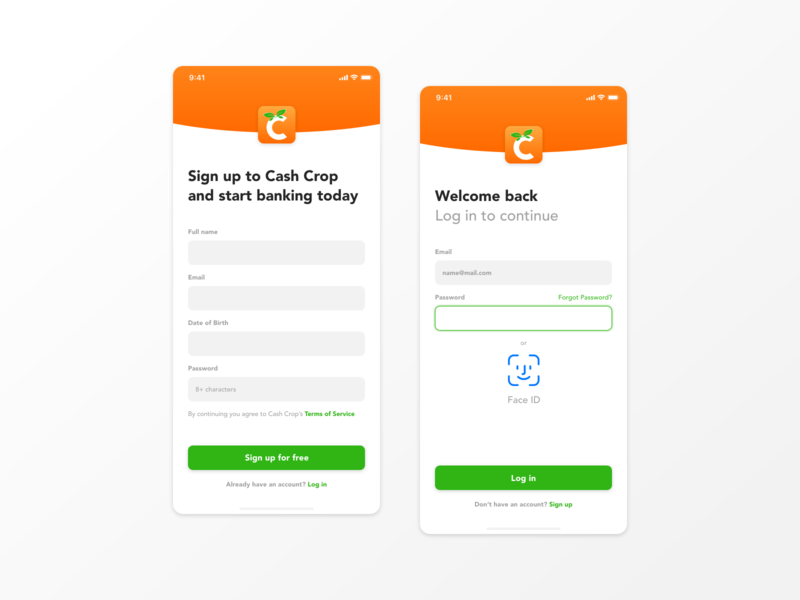 Cash Crop xd ux dailydesign ui design interface app design ui app