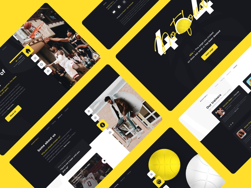 Basketball school landing page site company website balls basketball web design graphic design 3d animation ui  ux 3d landing page landing website design