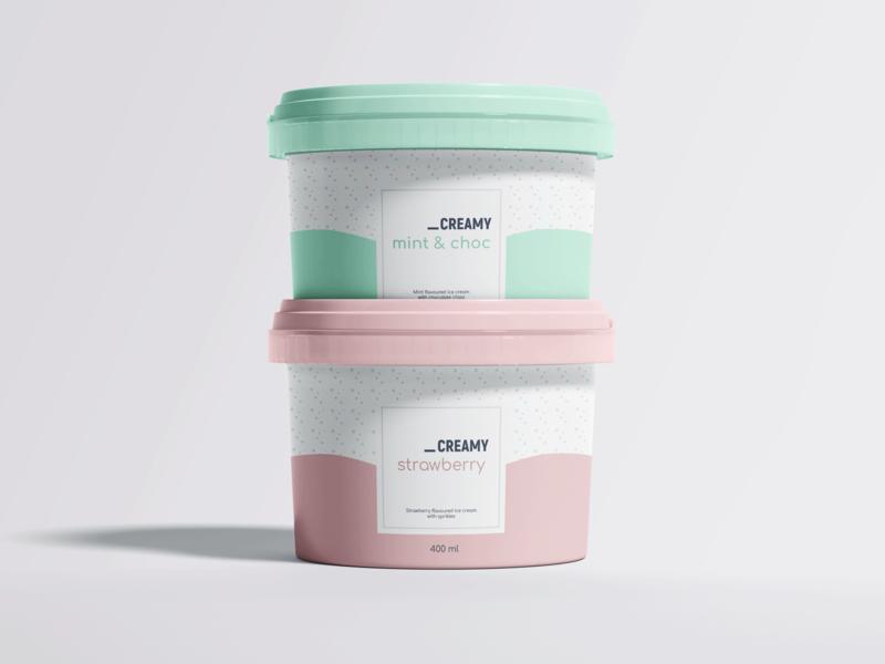 Ice Cream Packaging packaging icecream dribbbleweeklywarmup