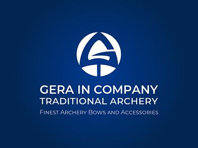 Gera Company logo. Traditional archery. 2012 year ukraine berezhnytskyi logo 2012 geracompany bows arrow logo arrow archery identity logo winddesignua wind logo design design