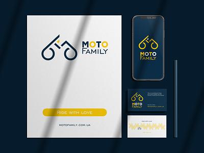 Moto Family. Approved logo concept. icon motobike logo motorcycle motorbike ui design business cards letterhead identity identity branding e-commerce branding logo ukraine winddesignua logo design wind
