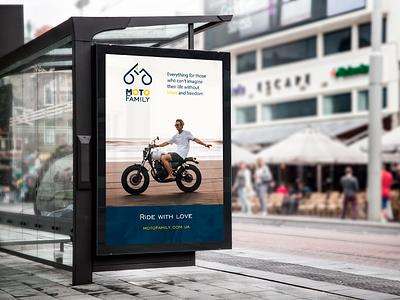 MotoFamily. Real concept 2 web design дизайн дизайн логотипа motorbike logo motorbike street poster citylight outdoor advertising berezhnytskyi identity ukraine logo design identity branding branding winddesignua design logo