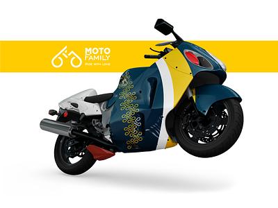 Moto family. Branded motorbike. дизайн брендинг мотобайк ride branded motorbike branded motorbike motorbike logo identity branding berezhnytskyi motorbike ukraine branding wind winddesignua logo design logo