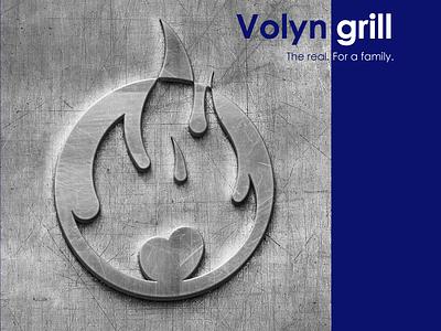 Metal stamp with a logo ukraine uk usa metallic metal visual design visual blue and white sketch logo stamp stamp branding logo design winddesignua wind logo