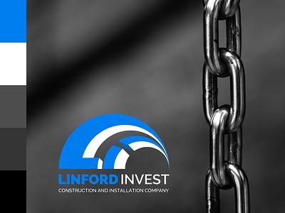Linford invest. Logo concept #2. mark uk industrial logo assembly construction logo identity ukraine design branding logo design