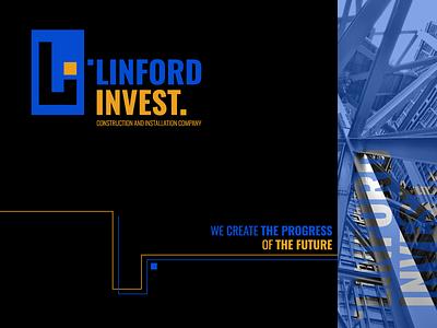 Linford invest. Logo. Main concept. invest progress mark logomark brandmark mark repair equipment transportationdesign car identity branding wind branding winddesignua logo design