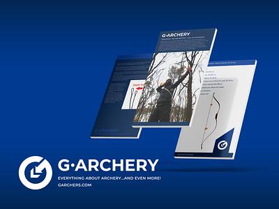 G-Archery. Ui design. survival archery circle logo icon app white blue pointer arrow bow vector logo design wind design wind windfalldesign windfall branding logo graphic design ui