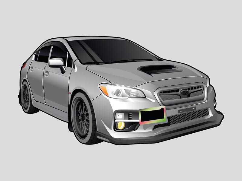 Subaru WRX STI Illustration