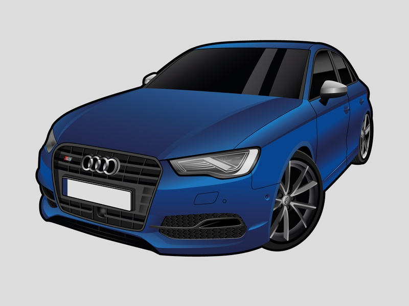 Audi S3 Illustration