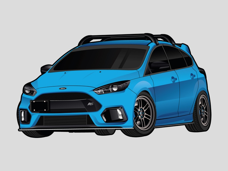 Ford Focus RS Illustration