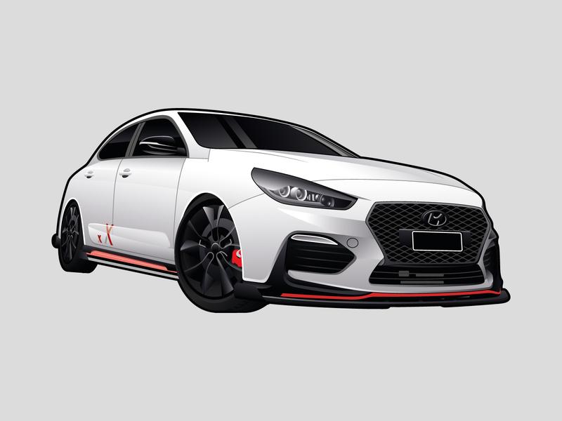 Hyundai i30N Illustration