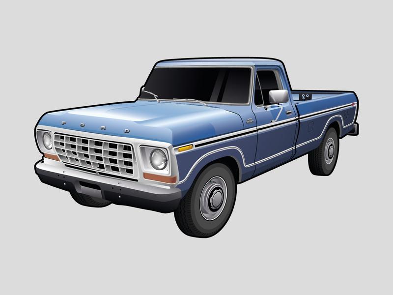 Ford Pickup Illustration