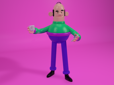 Bold Guy 3d character character c4d 3d