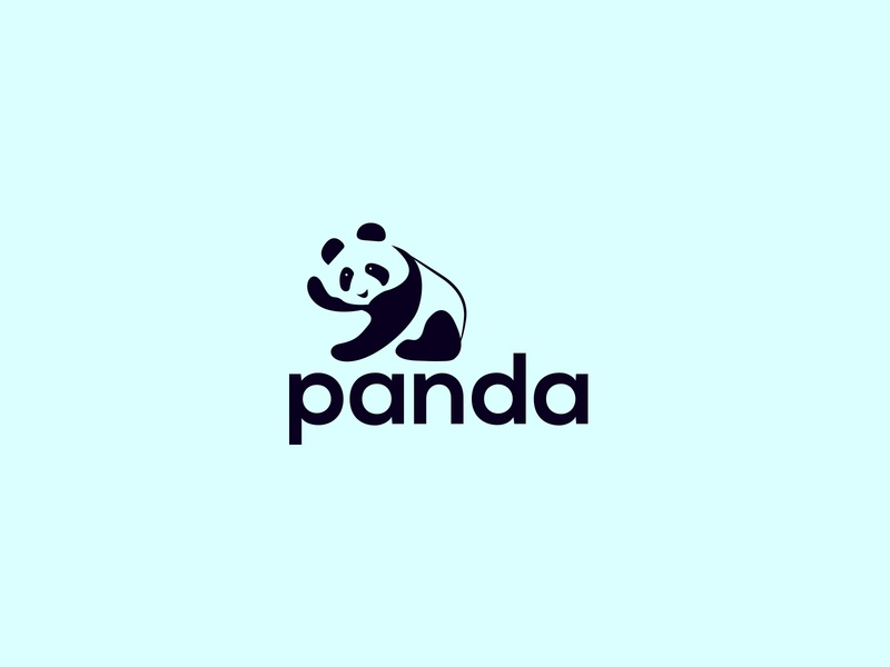 Panda Logo animals digital trends 2020 corporate modern creative company business logo designer animal logo panda logo brand identity branding