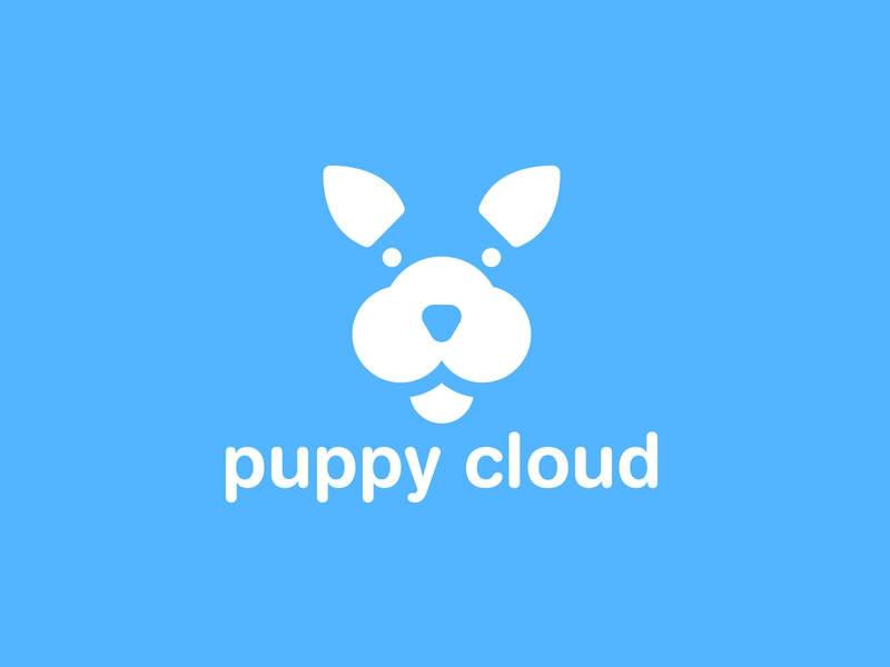 puppy Cloud Logo digital design creative logo modern company business logo design animal logo dog logo brand identity branding