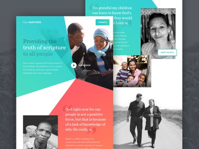IllumiNations Homepage gradient homepage landing page bible nonprofit
