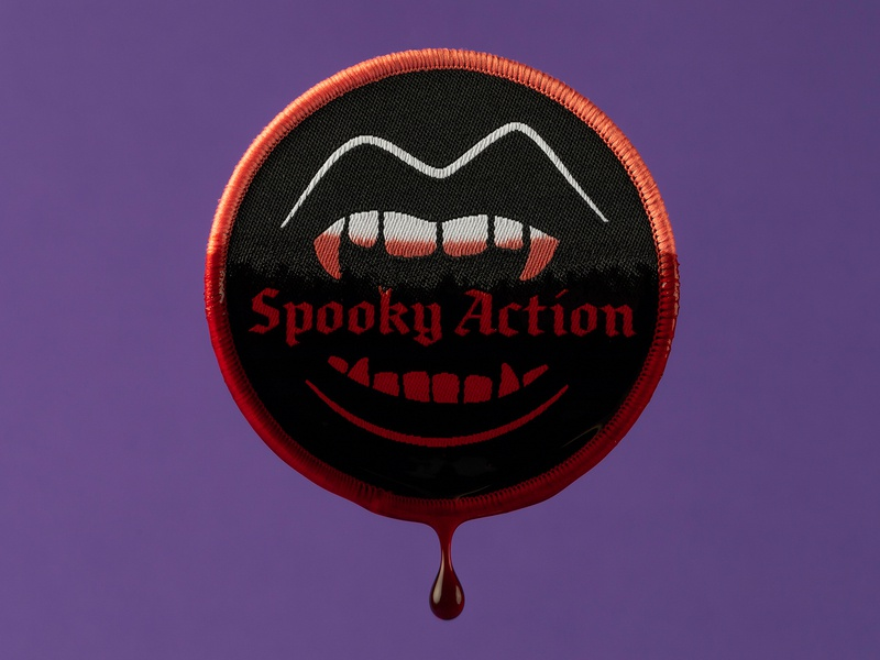 Spooky Action Patch spooky teeth patch design vampire patch