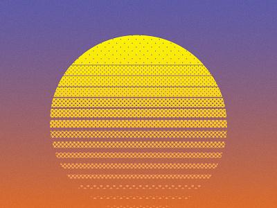 Summer Sunset pool beach summer camp summertime summer vibes halftones halftone sunrise gradient icon sunset sun summer 2020 illustrator illustration vector