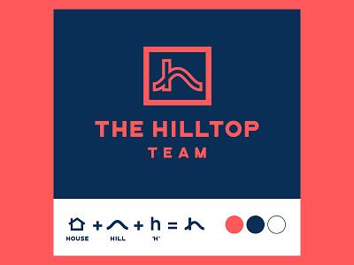 The Hilltop Team illustrator vector letter h logo letter h concept branding design branding brand identity typography icon design icon logo design logotype logo