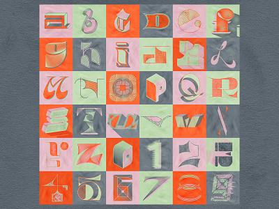 36 Days Of Type 08 illustraion vector photoshop illustrator effects grid color palette texture lettering alphabet typedesign type art typeface typogaphy 36daysoftype08 36daysoftype
