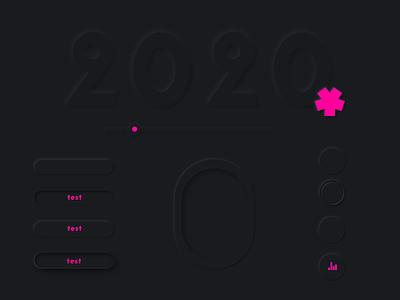 Soft ui assets in affinity designer assets interface design pink dark ui uidesign black neumorphism soft ui