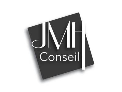 Logo Jmh Conseil black simple logo company