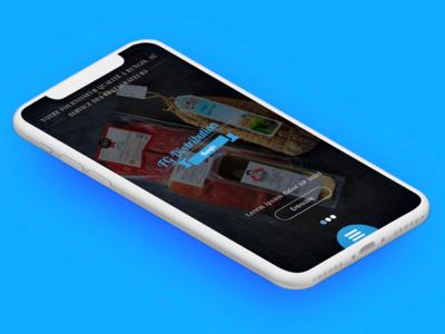 Mobile home page uidesign design black interface design