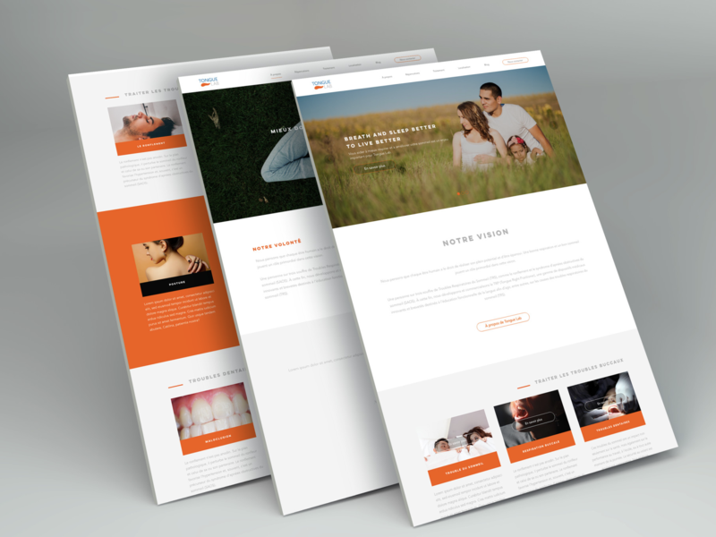 Website design company interface design
