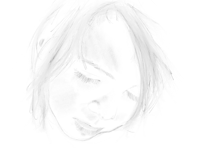 Procreate drawing ipad pencil portrait drawing