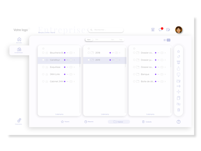Work In progress : Cloud filesystem interface design design ui uidesign interfacedesign white dashboard ui cloud