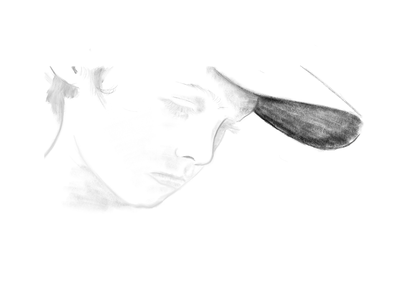 Procreate drawing of a boy illustration black ipad pencil drawing procreate