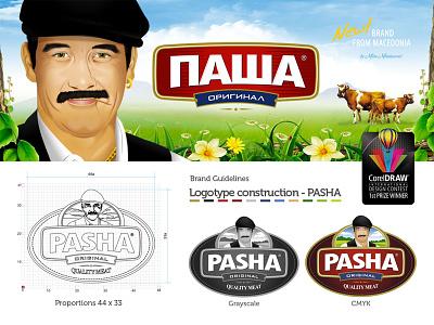Corel Winner _ Pasha logo packaging food pack