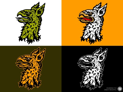 Griffin Personal Branding brand and identity brand designer screen printing vector illustration logo illustration design vector branding hand drawn procreate ipadillustration griffins griffin