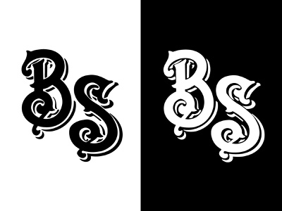 Black Seas Monogram (Hand Lettered) logo vector branding typography logo victorian type logotype lettermark logo calligraphy logo custom typography procreate illustration hand lettering logo hand lettered monogram monogram design monogram logo typogaphy typography design