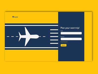 Expedia login redesign login page webdesign ui design dribbbleweeklywarmup