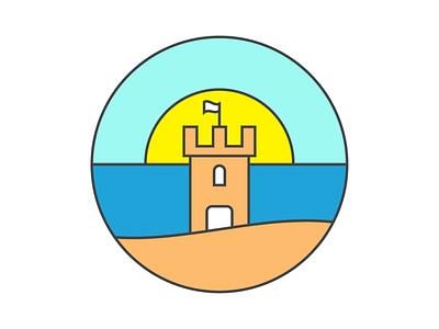 summer icon illustration summer sandcastle icon design icon design dribbbleweeklywarmup