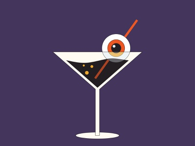 spooky martini dribbbleweeklywarmup adobe illustrator spooky eyeball drink martini halloween